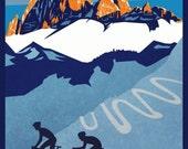 "Giro D'Italia retro cycling poster 11X17"""