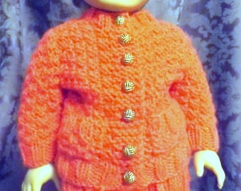 NEW 054 Moss stitch knit cardigan sweater and skirt for American Girl doll