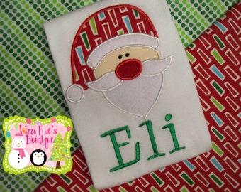 Sale- Christmas sale- Christmas shirt sale- Boys Christmas shirt- Christmas shirt for boys- Christmas applique shirt- Santa applique shirt