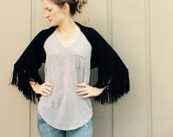 DIY Crochet Pattern: fringe shrug, cardigan, shawl, wrap, fringe,  easy crochet, InStAnT DoWnLoAd, The Seville Shrug