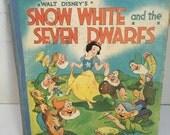 Vintage 1957 Disney Snow White and the Seven Dwarfs Book David McKay Company