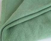 Vintage Green Wool and Satin Edged Blanket