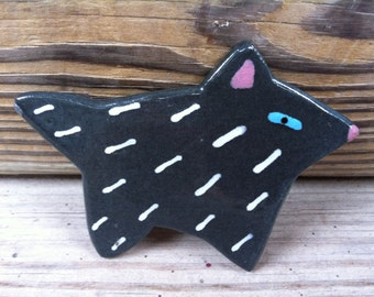 Ceramic Cat Pin