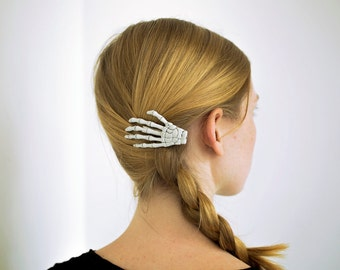 Skeleton Hand Hair Clip - ONE. Left hand.
