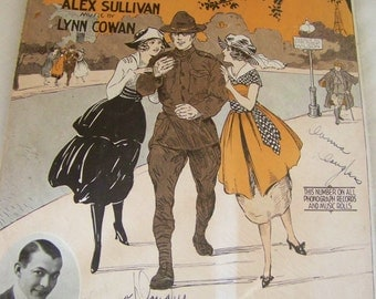 1918 WW! sheet music in excellent condtion