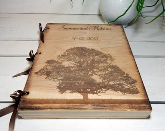 Wedding Guest Book or Words of Wisdom Book Rustic and Personalized Custom Guest Book