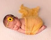 Baby Headband, Flower Headband, Sunflower Headband For Girls, Small Bows, Baby Bows, Baby Girl Headband, Newborn Gift, Itty Bitty Bows