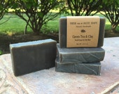 Green Tea & Clay, Facial Soap with Neem, Manuka Honey and Activated Charcoal
