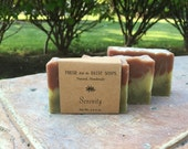 Serenity, Stress Relief Soap, Aromatherapy, Relaxing, 100% Natural Cold Process Soap, VEGAN