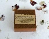 Spiced Orange Glycerin Soap, All Natural Soap, Cinnamon Soap, Clove Soap, Exfoliating Soap