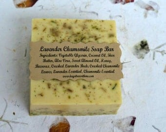 Lavender Chamomile All Natural Glycerin Soap, Body Wash, Bath and Body