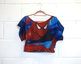 Spiderman Boxy Crop Top