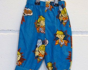 Upcycled Bob The Builder Baby Boy Trousers