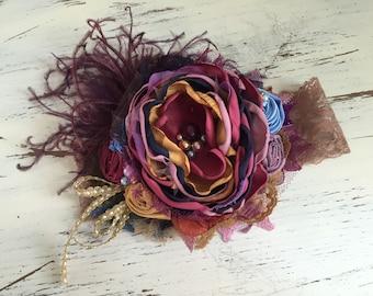 Baby Girl Headband -Matilda Jane Headband- Persnickety Headband- Flower Girl Headband- Baby Headband- Girls Headband