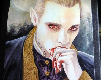 Vampire Gift Box Black Box Blood On His Hands Handsome Scoundrel Vampyre  I LIke My Gifts Gory