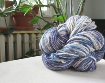 Naturally Dyed Variegated Blue and Purple Yarn