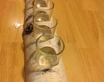 5 Votive Birch Logs