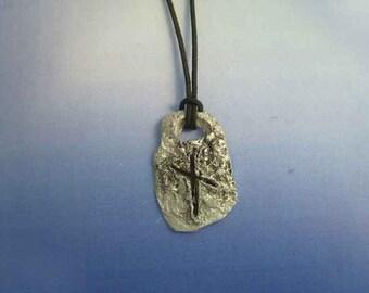 rune viking Naudiz Nauthiz Nyd Naud Naudr sterling silver 925 pendant escandinavian charm necklace amulet