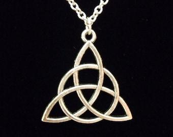 Antiqued silver Celtic knot necklace