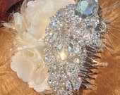 Bridal Hair Comb Bridal Headpiece Acessories Rhinestones