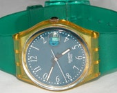 Vintage Swatch Swiss Grune Lui GK401 Watch