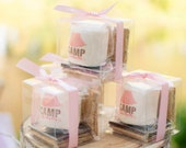 12 girly fall camping smore glamping pink tent idea girls birthday party theme smore kit party favor cherry blossom