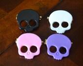 Pair of Skull Pins