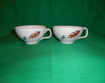 Two (2), Vintage Flat Cups, from Franciscan, in the Autumn Pattern.