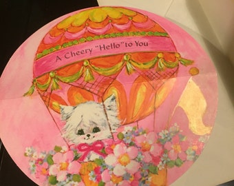 A Cheery Hello Round Greeting Card