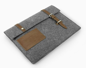 "20% Discount! New Design iPad Pro 11"" 13'' 15"" Felt Macbook Air Sleeve 13'' Macbook Retina Pro Laptop Case Fashion Leather Laptop Bag E2416"