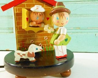 Vintage Wooden Nursery Lamp Child's Irmi Lamp