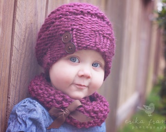 KNIT slouchy hat PATTERN - slouchy hat pattern, baby slouchy hat