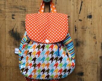Backpack // Houndstooth Backpack // Houndstooth // Boy Backpack // Toddler Backpack
