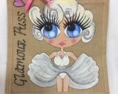 Handpainted Personalised Marilyn Monroe Glamorous Vintage Pin Up Girl Jute Handbag Gift Bag Hen Party Celebrity Style