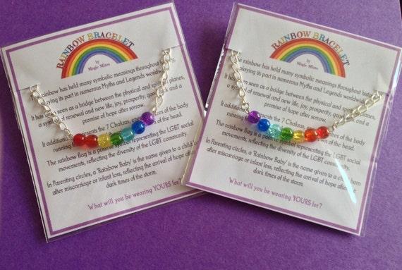 Rainbow Bracelet, Chakra Balancing, Gay Pride, LGBT, Rainbow Baby