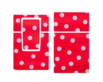 Polaroid sx-70 skin - oilcloth polka dots (free basic shipping)