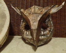 DIY Halloween mask, Make your own Owl mask, bird mask from cardboard, PDF templates