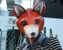 DIY Halloween mask , Fox mask, fox costume, rabbit mask, rabbit costume, animal mask, PDF Templates, Printable Mask