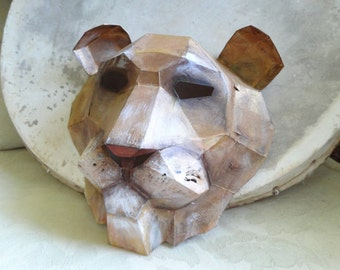 DIY Halloween mask, Make your own Lion Mask from recycled paper
