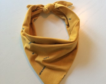 Bandana Bib | Baby & Toddler | Mustard Yellow | Cotton Jersey | Under the Redwood Tree