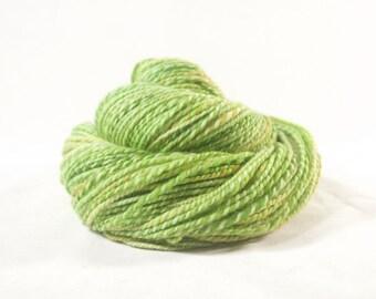 Handspun Yarn, Merino Falkland, bright green.