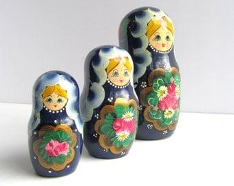 Vintage Folk Art Nesting Russian Doll