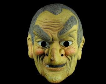 vintage halloween grandpa mask old man mask halloween costume 1960u0027s halloween
