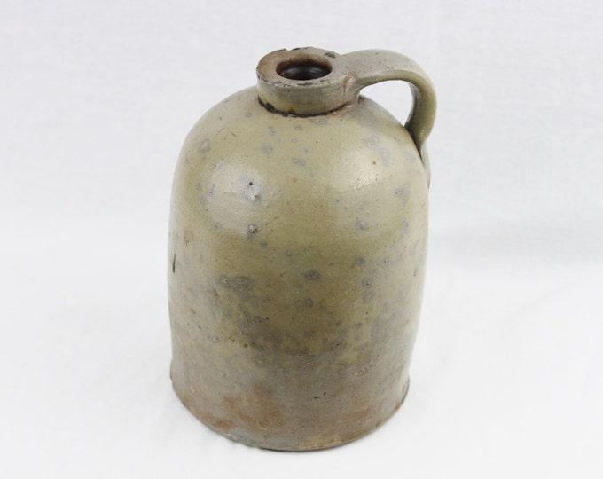 Antique Stoneware Half Gallon Crock Jug