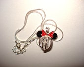 925 Sterling Silver Minnie Mouse Mickey Head Pearl Cage Charm Necklace Disney Pick A Pearl or Wish Pearl Epcot Alternate