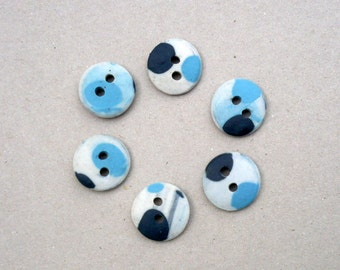 Kid's Buttons , Blue ,Black And White Sewing Buttons , Buttons For Knitters