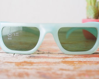 Vintage Sunglasses 1960's Pop art  Baby Blue Made IN USA