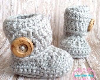 Baby Booties, Crochet Baby Booties, Crochet Baby Boots, Crochet Baby, Crochet Booties, Baby Girl, Baby Boy, UGG