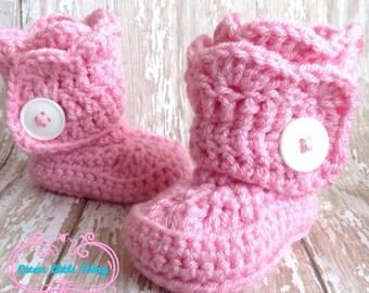 Crochet Baby Girl, Crochet Baby Booties, Crochet Baby Boots, Baby Booties, Crochet Booties, Baby Girl Shoes, UGG