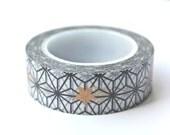 Art Deco Washi Tape - Star Washi Tape - Bronze Star Washi Tape - Art Deco Masking Tape - 10 meters